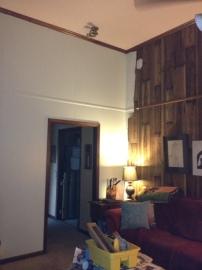 Living room tall walls
